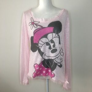 Disney Parks Authentic Minnie Mouse Long Sleeve